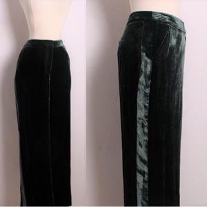 NEW Boden Green Silk Velvet Tuxedo Pants Trousers
